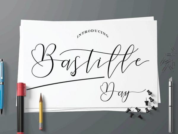 Bastille Day Calligraphy Script Font