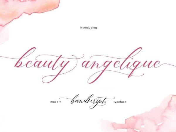 Beauty Angelique Handwritten Script Font