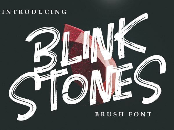 Blink Stones Brush Script Typeface