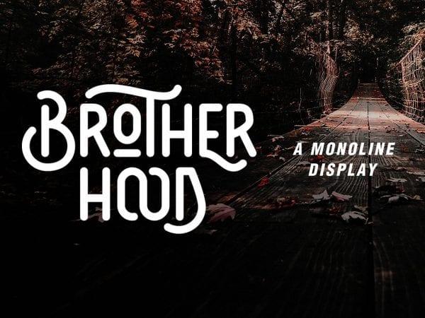 Brotherhood Display Vintage Typeface