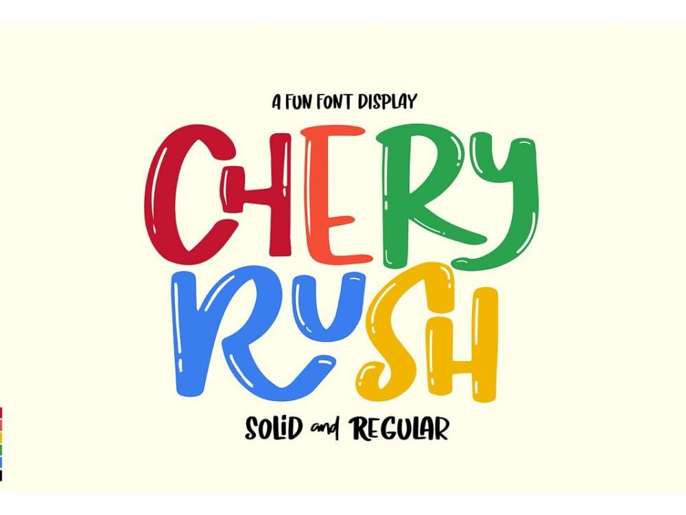 Chery Rush Script Display Font