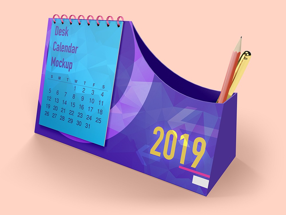 Desk Calendar PSD MockUp PSD Template