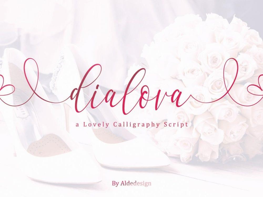 Dialova Calligraphy Script Font