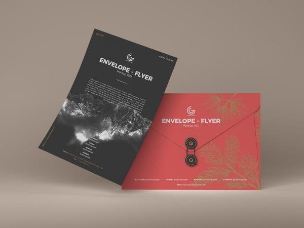 Elegant Envelope Flyer PSD MockUp Template