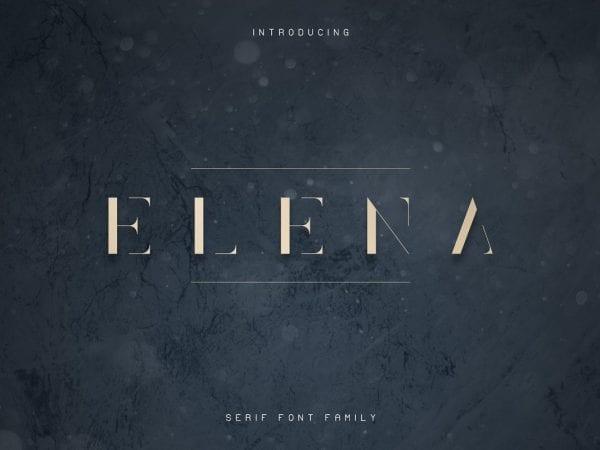 Elena Luxe Elegant Serif Typeface
