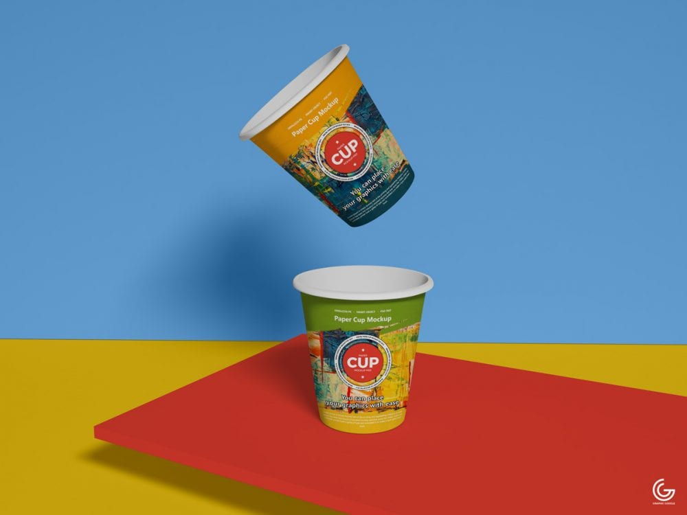 Eye-catching Brand Paper Cup PSD MockUp
