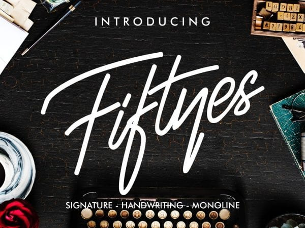 Fiftyes Handwritten Signature Font