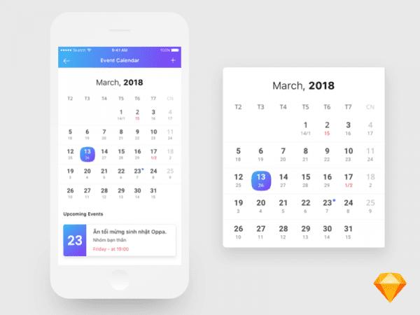 Free Calendar Design App In PSD