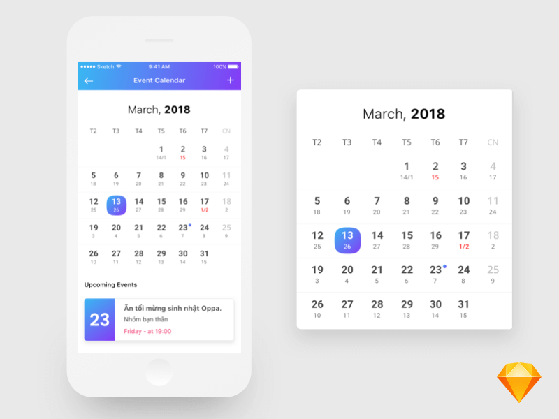 Free Calendar Design App In Psd Mockup Free Downloads