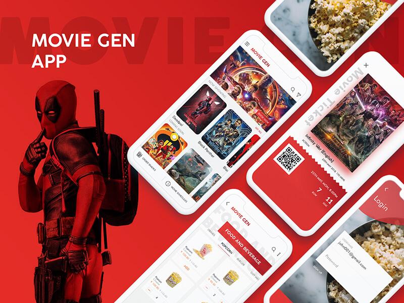 Free Cinema App Design In PSD