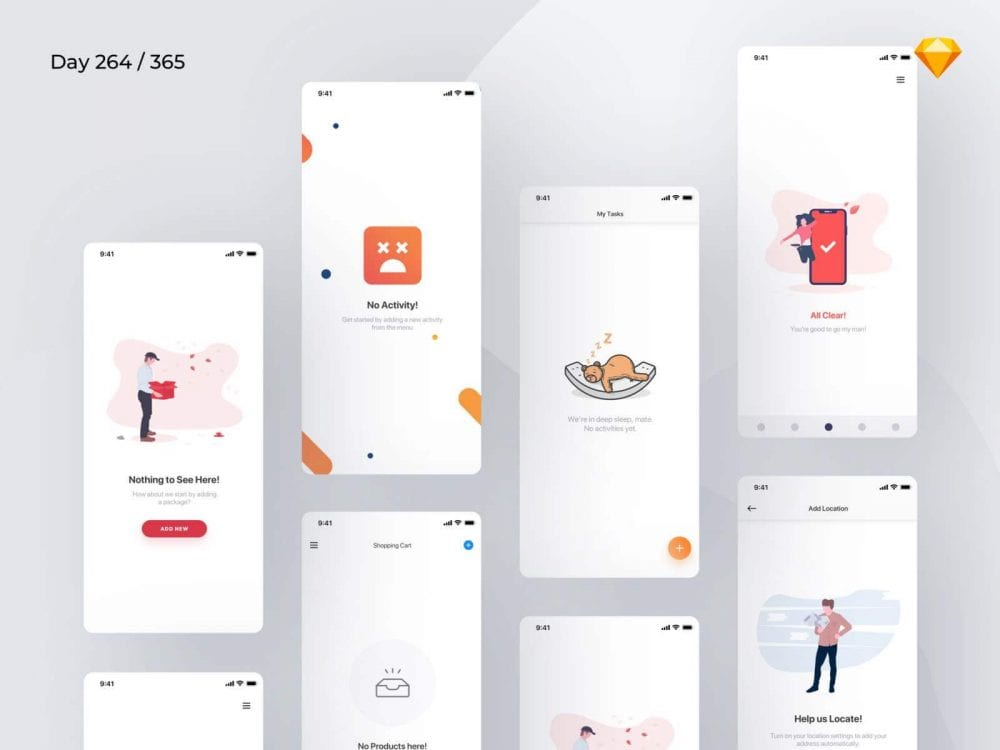 Free Empty State Sketchapp In PSD