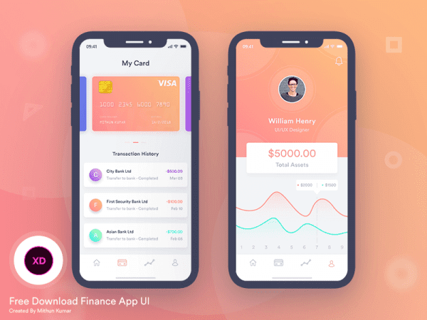Free Finance Mobile App Design