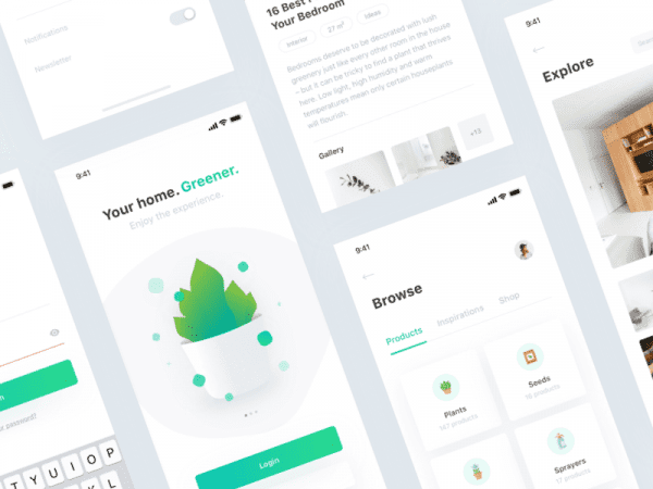Free Plant App UI Kit Design