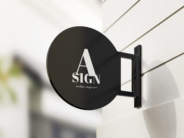 Free Sign PSD MockUp Template