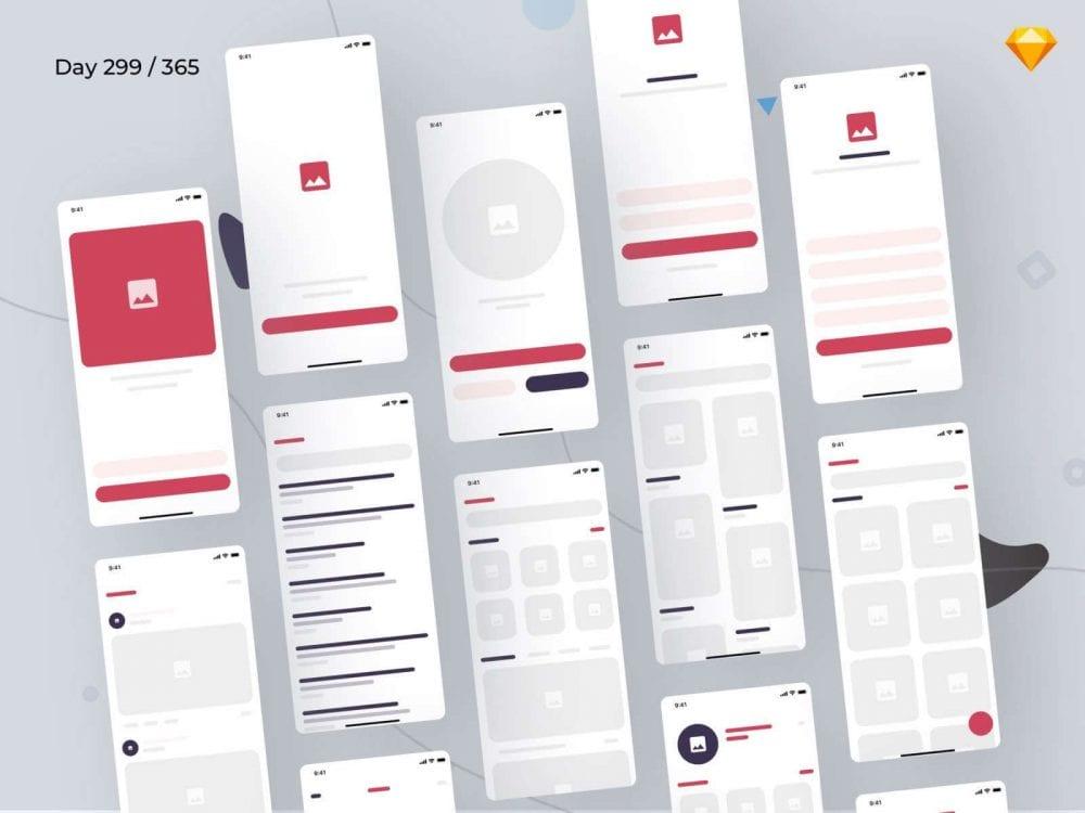 Free eCommerce Wireframe Kit Design