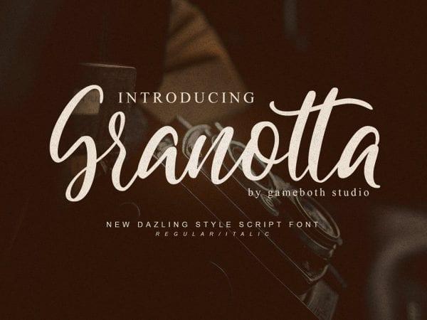 Granotta Handwritten Calligraphy Script Font