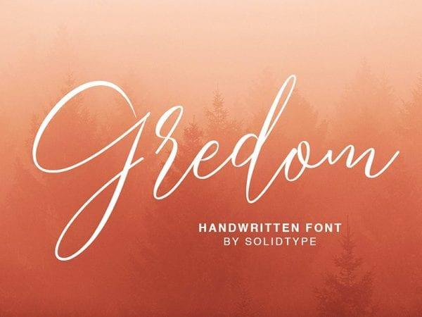 Gredom Handwritten Script Font