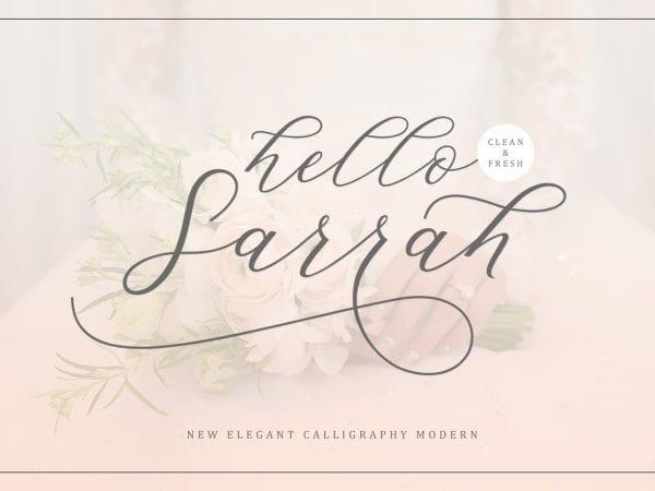 Hello Sarrah - Elegant Calligraphy Script Font
