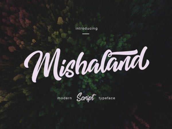 Mishaland Elegant Calligraphy Script Font