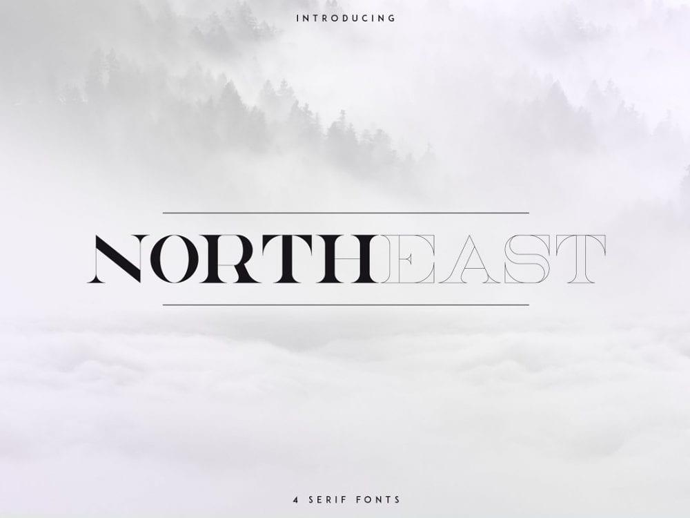 NorthEast Elegant Serif Typeface