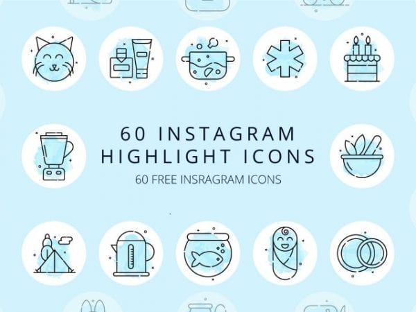 Pack Of 60 Free Instagram Icon