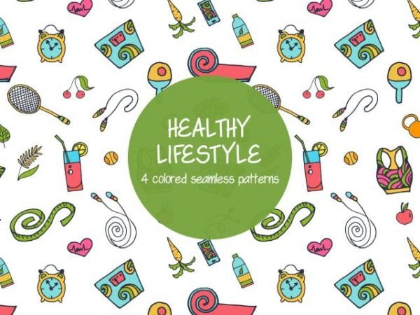 Pack Of Free Healthy Lifestyle Pattern