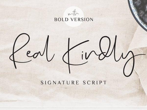 Real Kindly Handwritten Script Font