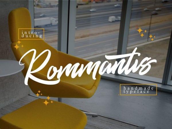 Rommantis Hand Lettered Script Font