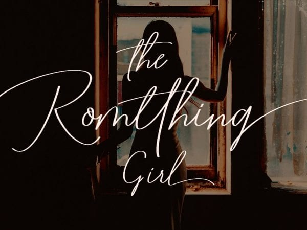 Romtthing Girl Handwritten Signature Font