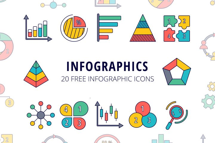 Set Of 20 Free Infographic Icons