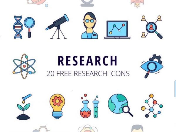 Set Of 20 Free Research icon