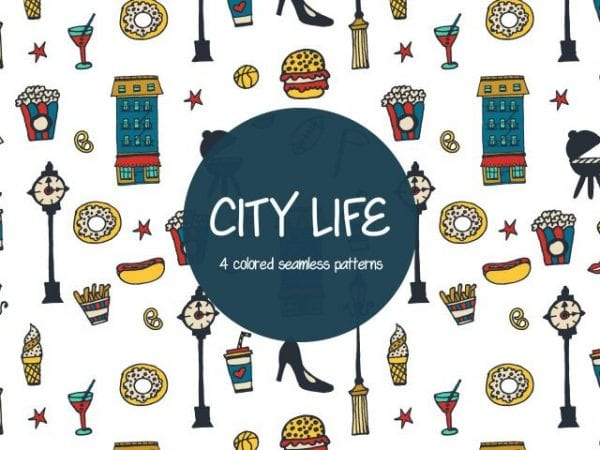 Set Of Free City Life Patterns