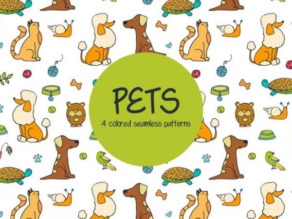 Set Of Free Colored Pet Pattern