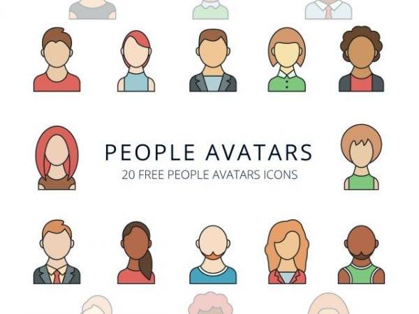 Set Of Free People Avatars Icons