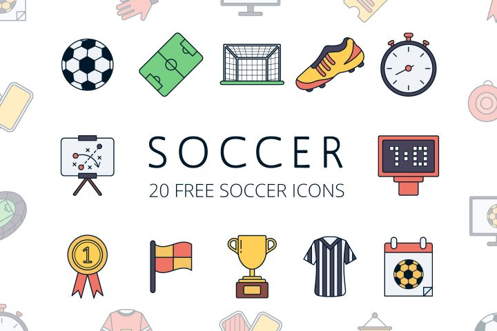 Set Of Soccer Icons Free Download