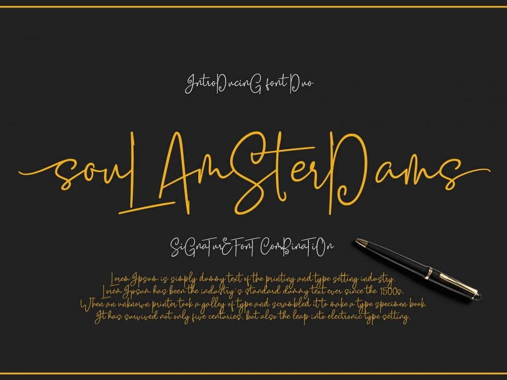 Soul Amsterdams Free Signature Script Font