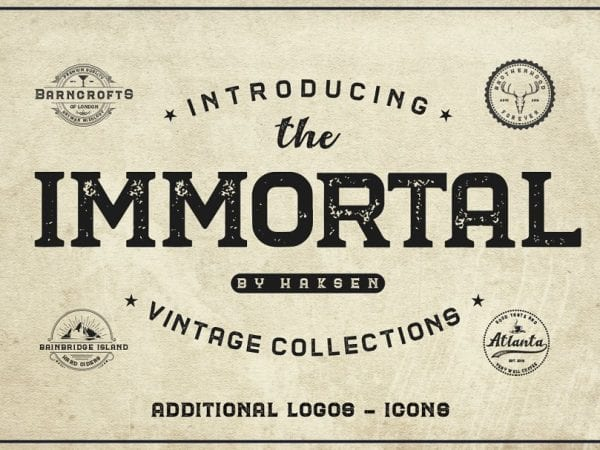 The Immortal Vintage Display Fonts