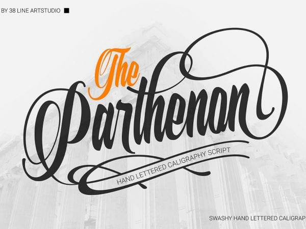 The Parthenon Hand-lettered Calligraphy Script Font