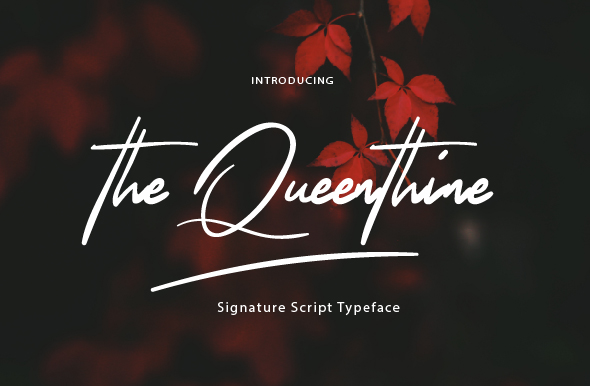 The Queenthine Handwritten Signature Font