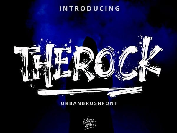 Therock Urban Free Brush Fonts