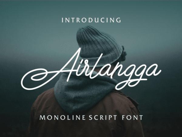 Airlangga Handwritten Calligraphy Font