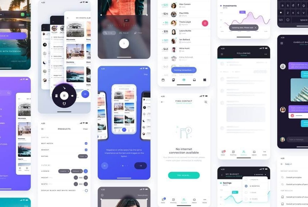 Atro Mobile UI kit Sketch