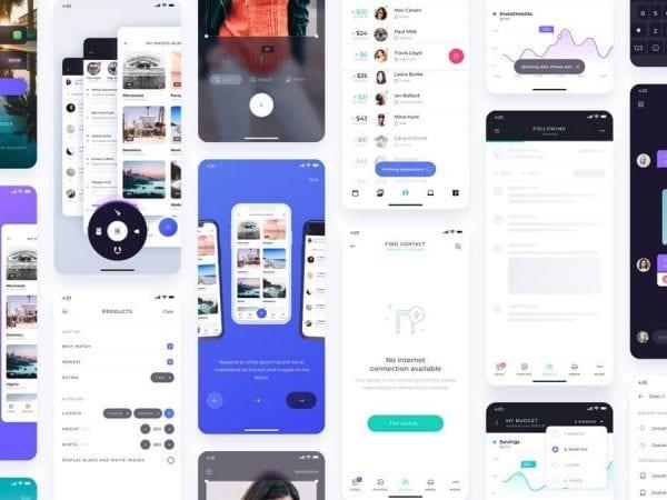 Atro Mobile UI kit Sketch