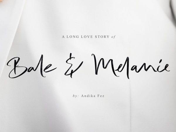 Bale & Melanie Handwritten Script Font