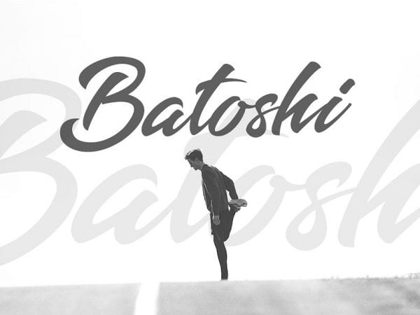 Batoshi Modern Brush Script Font