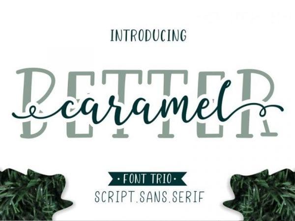 Better Caramel Handwritten Brush Script Font
