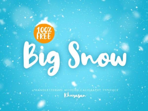 Big Snow Gorgeous Brush Script Font