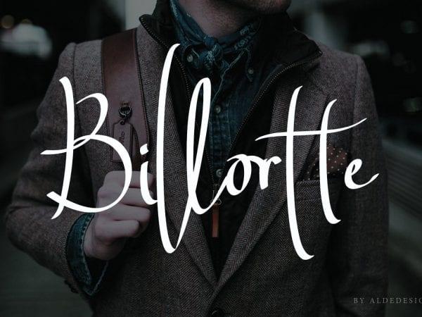 Billortte Handwritten Script Font