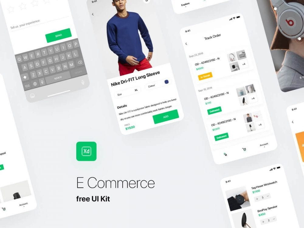 E-commerce UI kit App Design