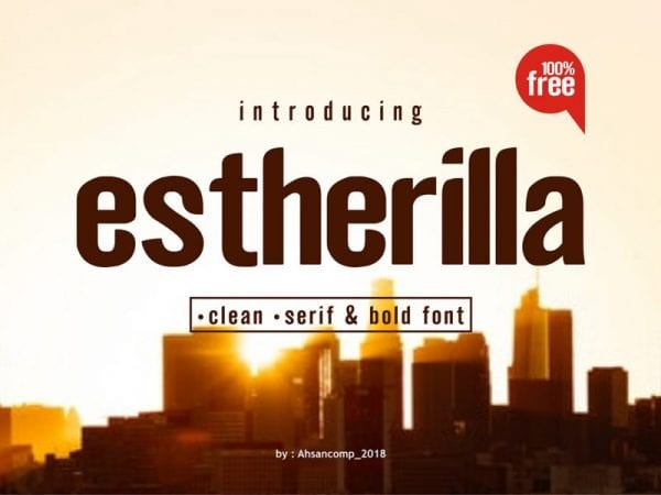 Estherilla - Modern Sans Serif Typeface